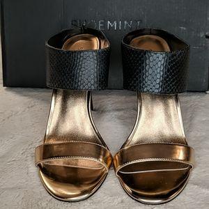Rose Gold & Black Heels
